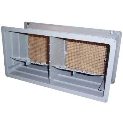 NorWesco DLX 8 In. x 16 In. Plastic Manual Foundation Vent with Damper