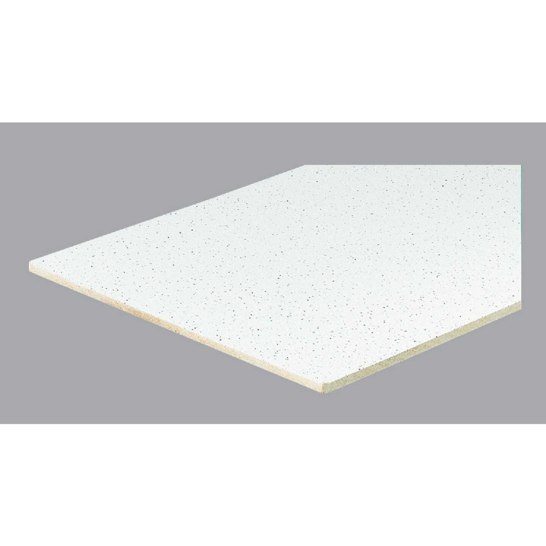 Radar Fissured 2 Ft. x 4 Ft. White Mineral Fiber Square Edge Suspended Ceiling Tile (8-Count) Image 2