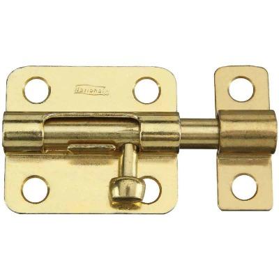 National 2-1/2 In. Brass Steel Door Barrel Bolt