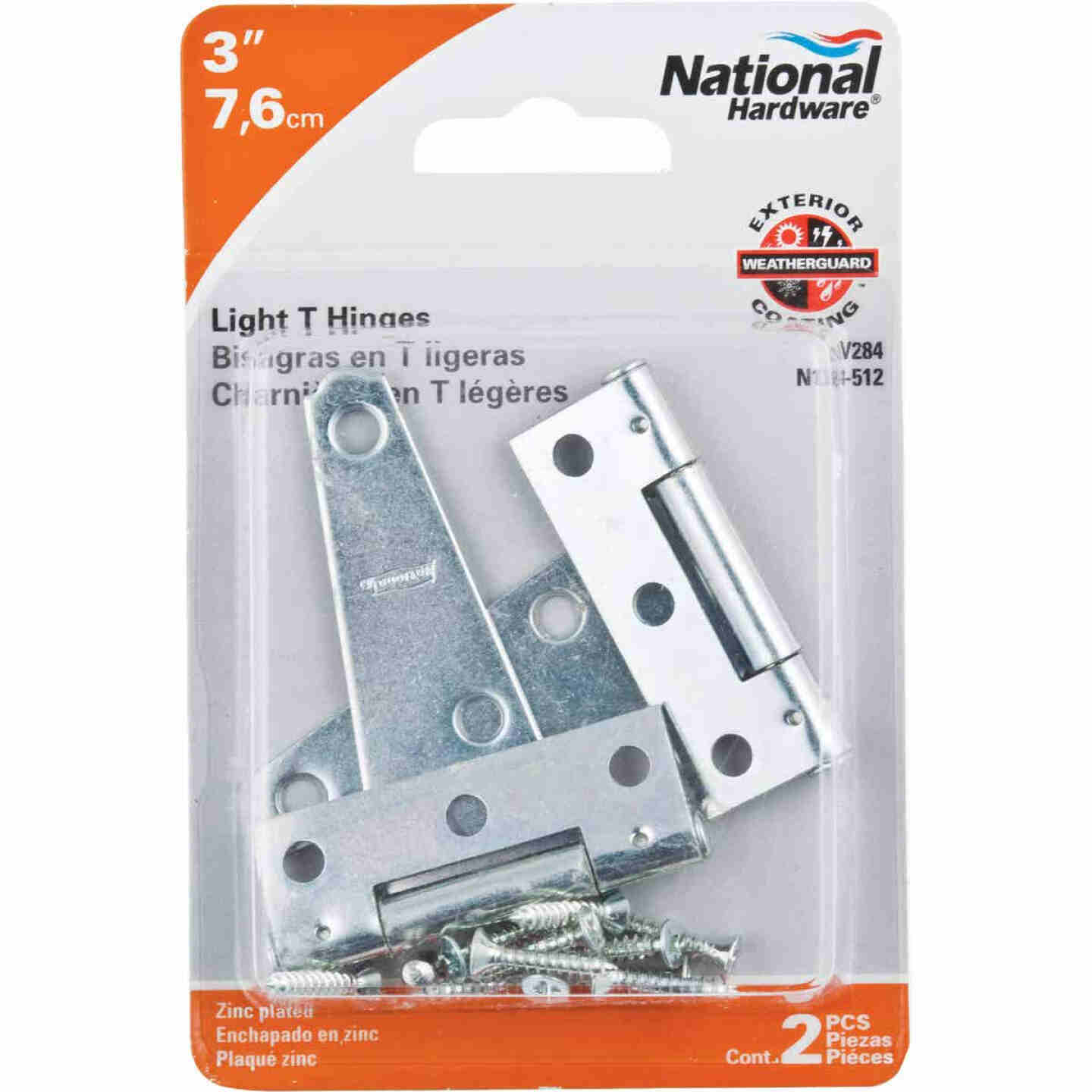 National 3 In. Light Duty T-Hinge With Screw (2 Count) Image 2