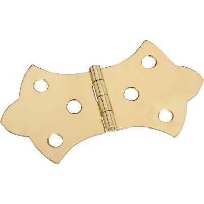 National 1-11/16 In. x 3-1/16 In. Miniature Brass Decorative Hinge (2-Pack)