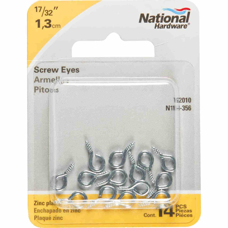 National #216-1/2 Zinc Small Screw Eye (14 Ct.) Image 2