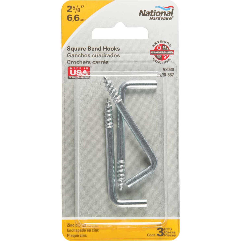 National 2030 Series #106 Square Bend Screw Hook Shoulder Hook (3 Count) Image 2
