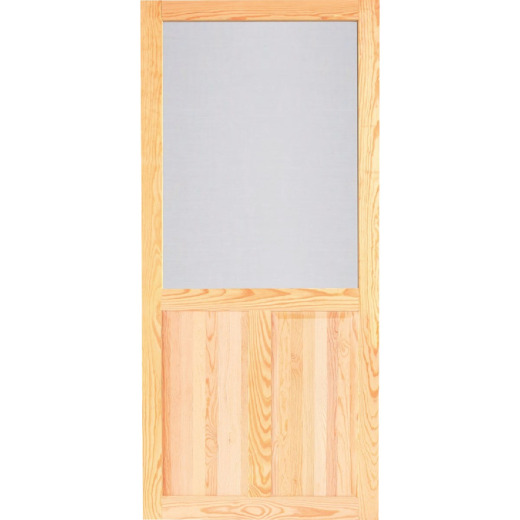Screen Tight Pioneer 36 In. W x 80 In. H x 1 In. Thick Natural Wood Screen Door