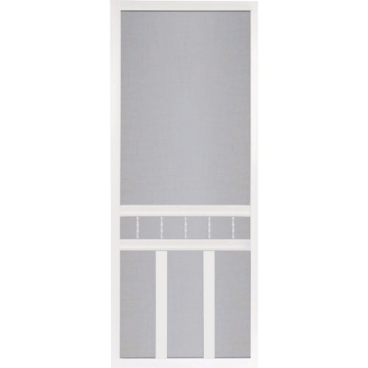 Screen Tight Waccamaw 36 In. W x 80 In. H x 1 In. Thick White Vinyl Screen Door