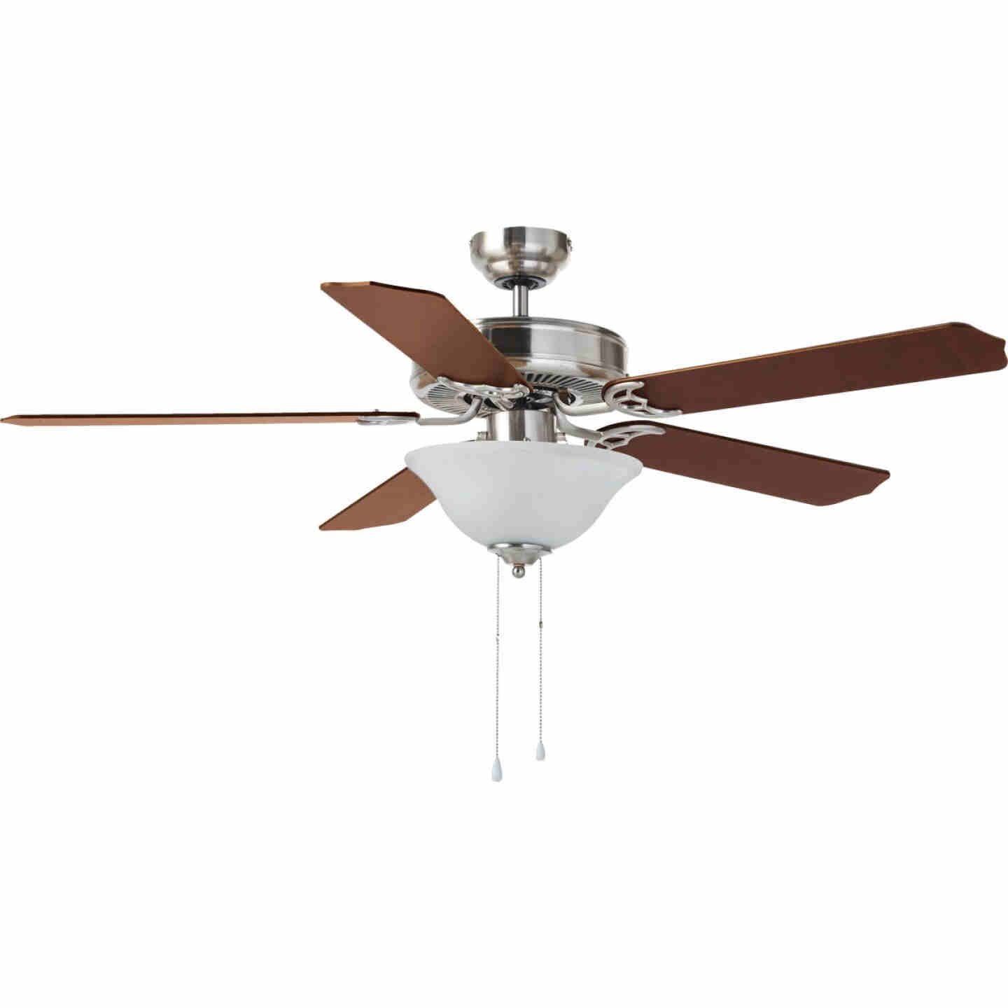 Home Impressions Baylor 52 In. Brushed Nickel Ceiling Fan with Light Kit Image 2