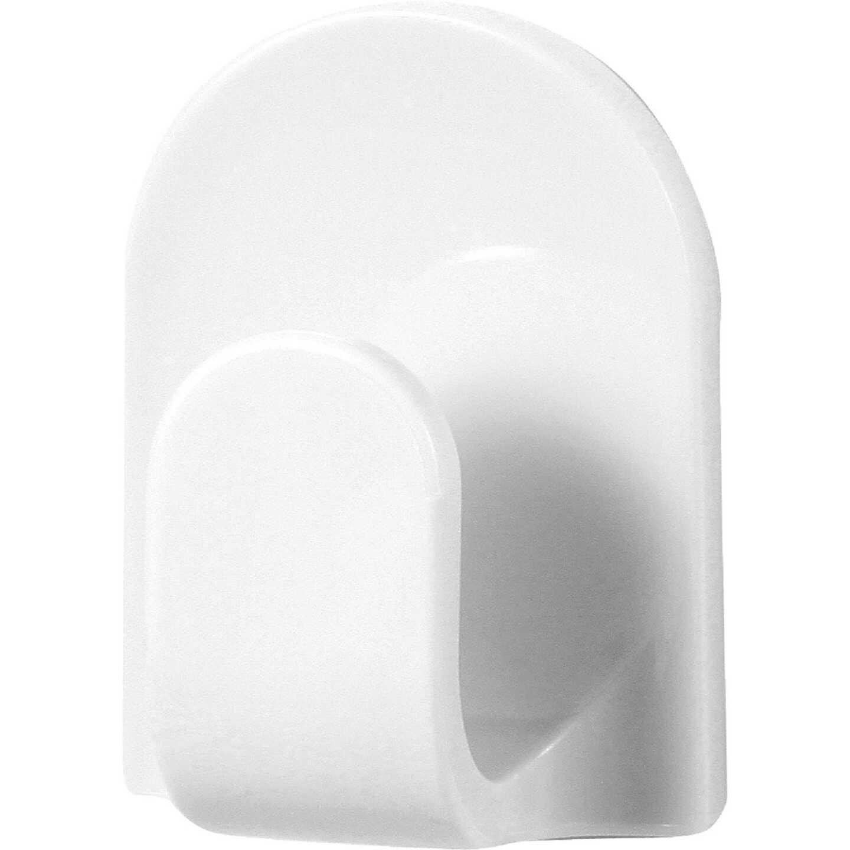 Spectrum White Jumbo Euro Adhesive Hook Image 1