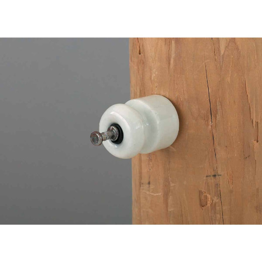 Dare Nail-On White Porcelain Electric Fence Insulator (25-Pack)