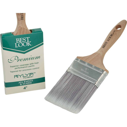 Best Look Premium 4 In. Flat Nylyn Paint Brush