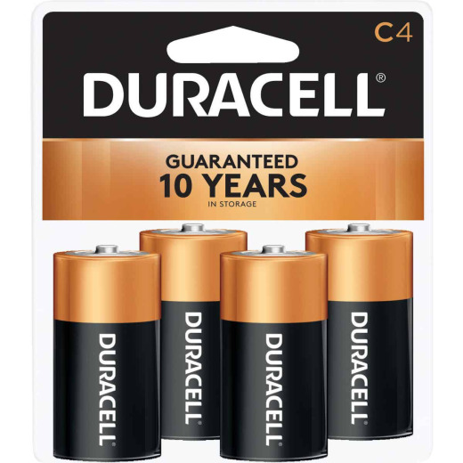 Duracell CopperTop C Alkaline Battery (4-Pack)